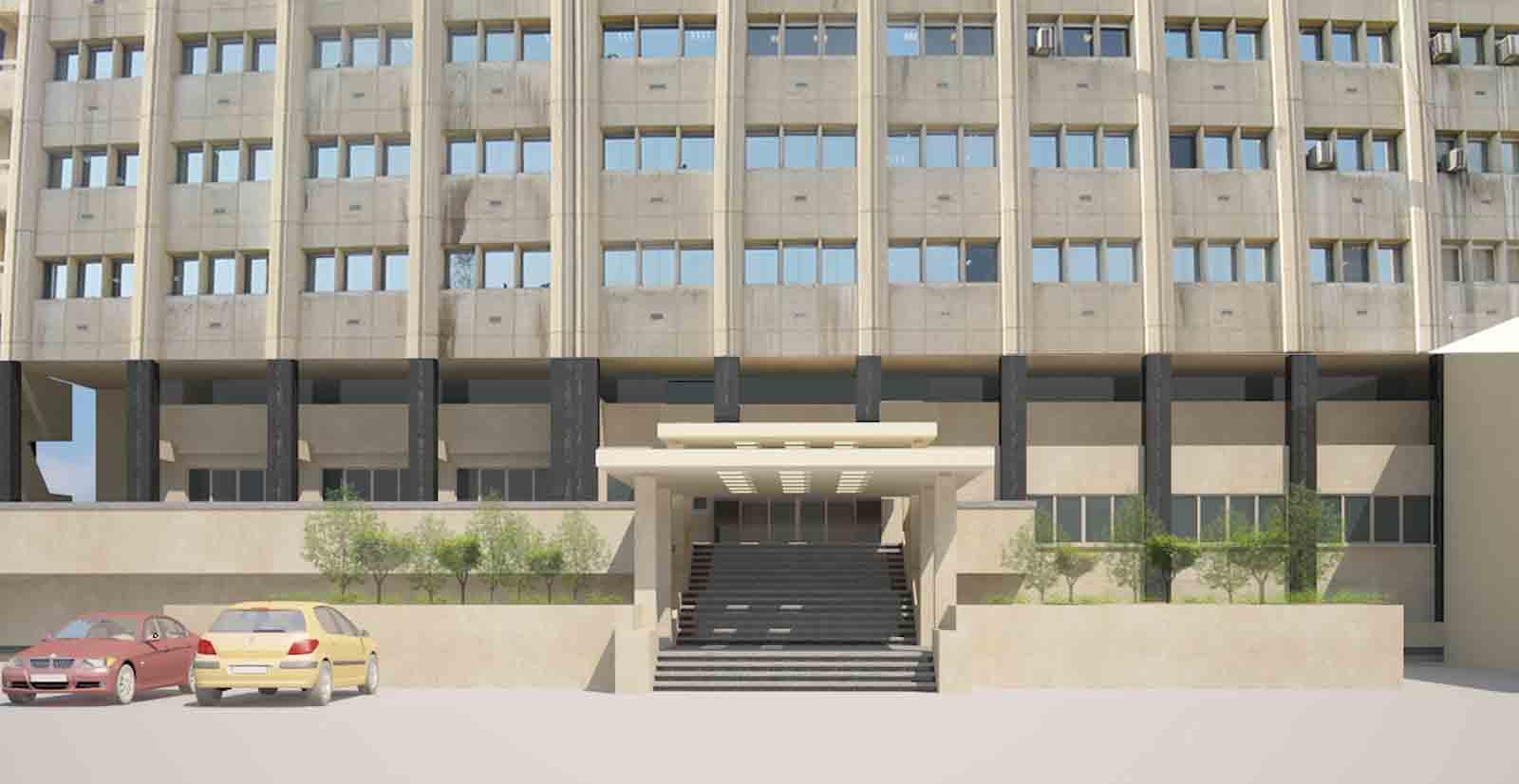 بازسازی لابی ورودی ساختمان مرکزی شرکت ارتباطات زیرساخت