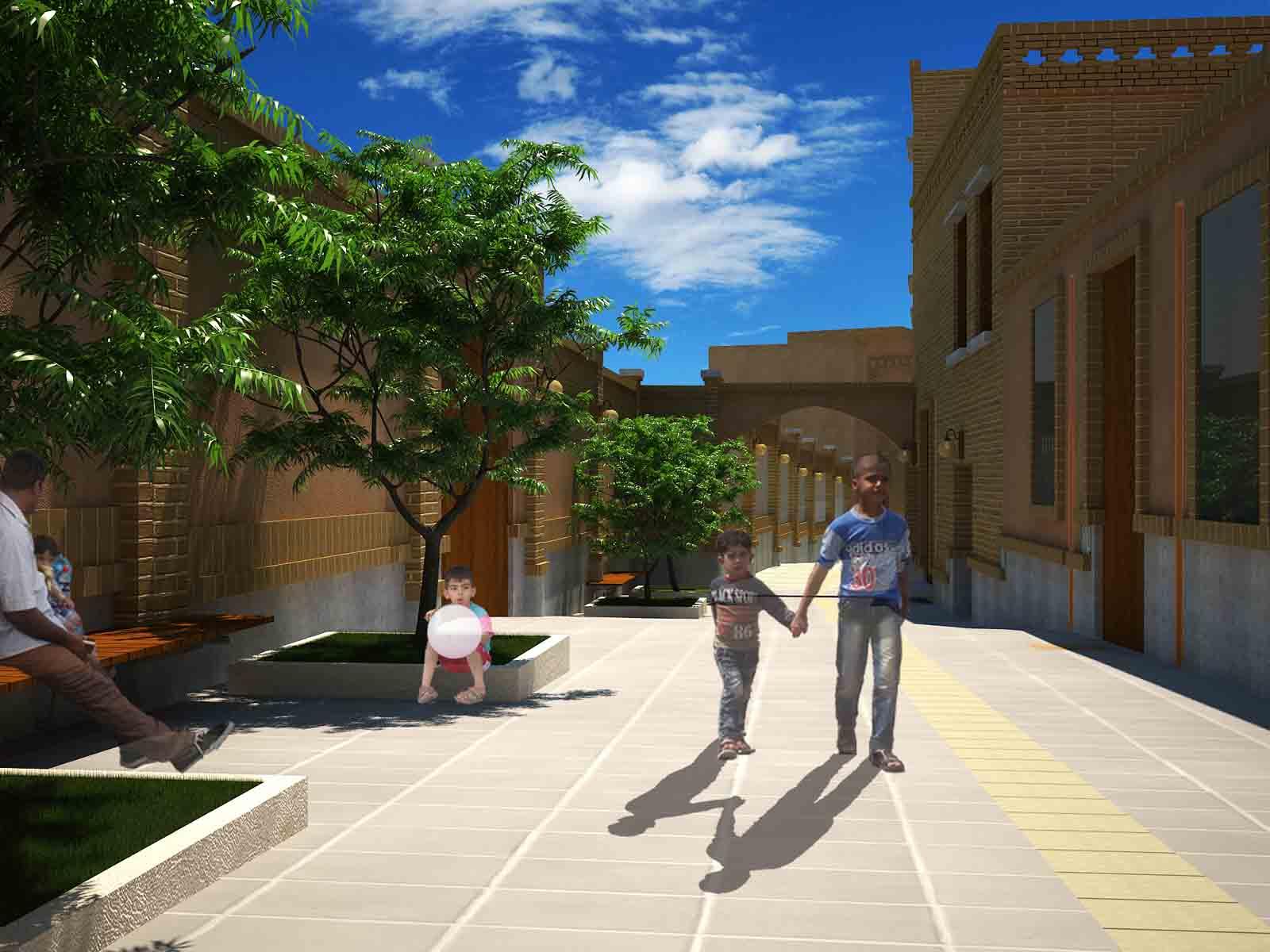 طرح پیادهراههای بافت تاریخی سمنان